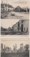 62  ECURIE  FESTUBERT  SAINT LAURENT  -  Lot 3 Cp Guerre 1914-1918  -  CPA  N/B  9x14 BE - France