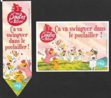 Duo Marque Page + Carte.    PKJ.  Les P'tites Poules Ont 20 Ans.    Bookmark - Bookmarks