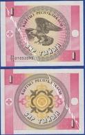 KYRGYZSTAN 1 TYIYN 1993 BALD EAGLE - UNC - Kyrgyzstan