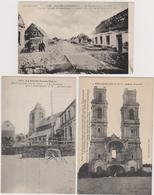 62  BIENVILLERS  MONT SAINT ELOI  LA TARGETTE  -  Lot 3 Cp Guerre 1914-1918  -  CPA  N/B  9x14 BE Neuves - France