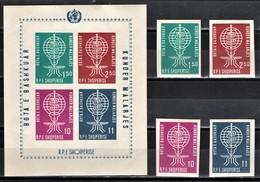 (603)  Albanien--Mi.-Nr. 650/3 B + Block 7 B, Komplett , Postfrisch  **/MNH, Sehr Gute Qualität, Antimalaria Geschnitten - Albania