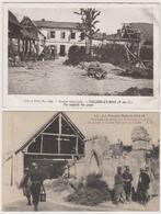 62  VILLERS AU BOIS  -  Lot 2 Cp Guerre 1914-1918  -  CPA  N/B  9x14 BE - France