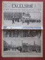 Journal EXCELSIOR 15 Septembre 1919 LA CROIX D'HONNEUR AUX VILLES DE DOUAI ET CAMBRAI Nord 59 Chartres - 1914-18