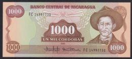 Ref. 2220-2643 - BIN NICARAGUA . 2020. NICARAGUA 1000 CORDOBAS 1985 - Nicaragua