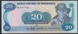 Ref. 2216-2639 - BIN NICARAGUA . 1985. NICARAGUA 20 CORDOBAS 1985 - Nicaragua