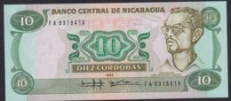 Ref. 2215-2638 - BIN NICARAGUA . 1985. NICARAGUA 10 CORDOBAS 1985 - Nicaragua
