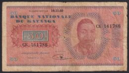 Ref. 2029-2452 - BIN KATANGA . 1960. KATANGA 50 FRANCS 1960 - Congo