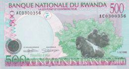Ref. 1567-1989 - BIN RWANDA . 1998. RWANDA 500 FRANCS 1998 - Ruanda-Urundi