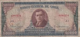 Ref. 1532-1954 - BIN CHILE . 1958. CHILE 50000 PESOS 1958 - 1959 - Chile