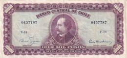 Ref. 1527-1949 - BIN CHILE . 1947. CHILE 10000 PESOS 1960 - 1961 MIL CONDORES - Chile
