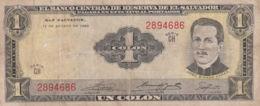 Ref. 1322-1744 - BIN EL SALVADOR . 1968. EL SALVADOR 1 COLON 1968 - El Salvador