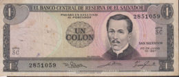 Ref. 1321-1743 - BIN EL SALVADOR . 1967. EL SALVADOR 1 COLON 1967 - El Salvador