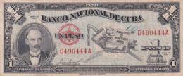 Ref. 1210-1632 - BIN CUBA . 1953. CUBA 1 PESO 1953 JOSE MARTI - Cuba