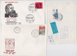 MARX Lot 3 Cover Mail Germany Philosopher Journalist Capital Economic Bulgaria DDR Engels - Karl Marx
