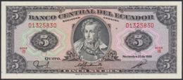 Ref. 827-1249 - BIN ECUADOR . 1988. ECUADOR 5 SUCRES 1988 - Ecuador