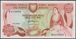 Ref. 766-1188 - BIN CYPRUS . 1982. 1982 CYPRUS CHIPRE 500 MILS. 1982 CYPRUS CHIPRE 500 MILS - Cyprus