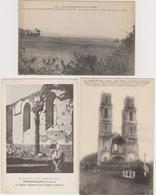 62  ABLAIN ST NAZAIRE  FONCQUEVILLERS  MONT ST ELOI  -  Lot 3 Cp Guerre 1914-1918  -  CPA  N/B  9x14 BE - France