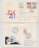 MARX Lot 2 Cover Mail Germany Philosopher Journalist Capital Economic Hungary Czechoslovakia - Karl Marx
