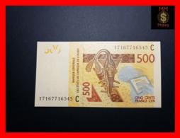 WEST AFRICAN STATES WAS C  BURKINA FASO 500 Francs  2017  P. 319 Cf  UNC - Westafrikanischer Staaten