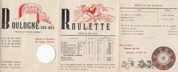 PUBLICITE DEPLIANT DU CASINO DE BOULOGNE SUR MER - Publicités