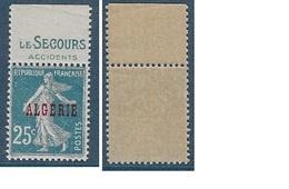 ALGERIE N°14 ** Avec PUB Le Secour  Neuf  MNH Luxe - Neufs