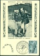 CM-Carte Maximum Card # 1965-France # Guerre,Krieg,war # Retour Des Déportés # Déportation, Résistance # Reims - 1960-69