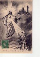 CPA - 75 - 350 -  PARIS  - AUX PIEDS DU SACRE COEUR J'AI PRIE POUR VOUS - N° 1935 - - Sacré Coeur