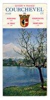 Depliant Courchevel Savoie Moriond Praz Saint Bon Vue Montagne Piste Ski Station - Folletos Turísticos