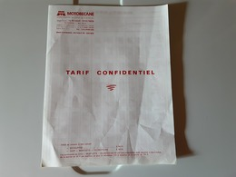 Document Motobecane Tarif Confidentiel  Mobylettes Solex Etc - France