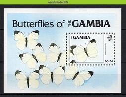 Nfb063 FAUNA VLINDERS INSECTS BUTTERFLIES SCHMETTERLINGE MARIPOSAS PAPILLONS GAMBIA 1984 PF/MNH - Butterflies