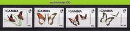 Nfb064 FAUNA VLINDERS INSECTS BUTTERFLIES SCHMETTERLINGE MARIPOSAS PAPILLONS GAMBIA 1984 PF/MNH - Butterflies