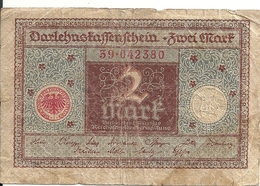 ALLEMAGNE 2 MARK 1920 VF P 60 - [ 3] 1918-1933 : República De Weimar