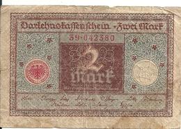 ALLEMAGNE 2 MARK 1920 VF P 60 - 2 Mark