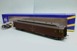 REE - AMBULANT POSTAL OCEM 21,6m PAz Postes SNCF Ep. IV Réf. VB-086 Neuf NBO HO 1/87 - Coches De Viaje