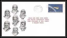 3715/ Espace Space Raumfahrt Lettre Cover Briefe Cosmos 1/3/1962 Project Mercury USA - Etats-Unis
