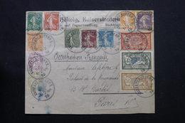 FRANCE / ALLEMAGNE - Affranchissement Plaisant De Kaiserslautern ( Occupation Française ) En 1919 Pour Paris - L 59145 - WW I