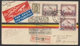 PA6 Et 7 En Paire + N°420 Sur Lettre Illustrée SABENA En R Et Par Avion De Bruxelles (1936) > Tête (Af. Or. Portuguaise) - Airmail