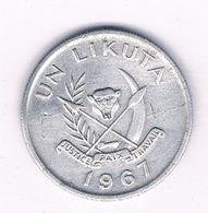 UN LIKUTA 1967  CONGO /3306/ - Congo (Republic 1960)