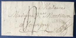 France 1839 - Lettre D'AUBUSSON Pour Souvigny - Taxe 4 Décimes - (B3238) - Marcophilie (Lettres)