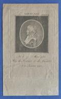 Stampa D'epoca - Luigi XVII Re Di Francia E Di Navarra - Fine '700 - Prints & Engravings