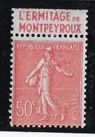 France N°199 Avec Bande Publicitaire - Neuf * Avec Charnière - TB - Publicités