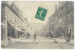Cpa Doubs - Pontarlier - La Grande Rue - Pontarlier