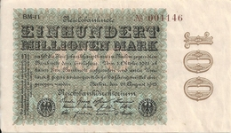 ALLEMAGNE 100 MO MARK 1923 VF+ P 107 - 100 Millionen Mark