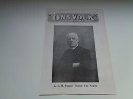 """Origineel Knipsel ( 2229 ) Uit Tijdschrift """" Ons Volk """" 1930 :  Pastoor Willem Van Neylen   Gheel  Geel - Vieux Papiers"""