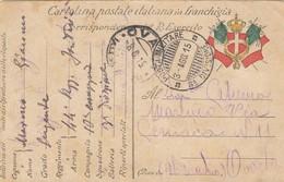 "9794-CARTOLINA ILLUSTRATA -""POSTA MILITARE-3°DIVISIONE"" - 3-8-1915 - Marcophilia"
