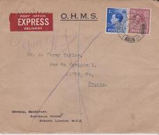 LSC - EXPRES De LONDRES Pour PARIS / 15 JU 1937 - Poststempel