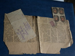 FRAGMENT DE JOURNAL RUSSE DE 1929 Avec Un Bloc De 4 Timbres Non Dentelés + 1 - 1917-1923 Republic & Soviet Republic