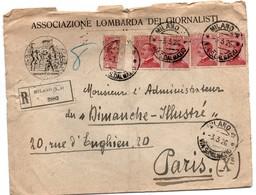 Milano 1926 Via San Dalmazio - Racommandata - Registered - Lettre Recommandée - !!! Verso Incomplet - 1900-44 Victor Emmanuel III