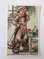 Carte Postale Ancienne QUEL MALHEUR D'ETRE BRICOLEUR - WAT NU GEDAAN ? - Portraits