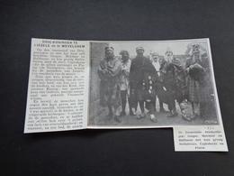 """Origineel Knipsel ( 3803 ) Uit Tijdschrift """" Ons Volk """" 1930 :   De Liezeelsche Driekoningen  Liezele - Vieux Papiers"""
